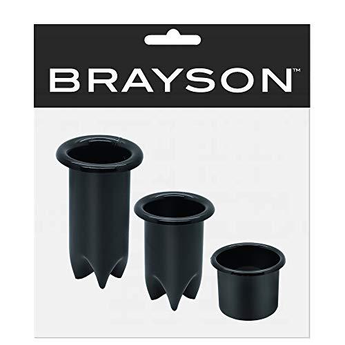 Salon Equipment 3 Pcs Set Black Hair Appliance Holders ()