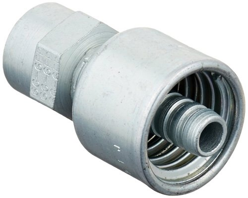 """Price comparison product image Gates 6G-6FP MegaCrimp Couplings,  Female Pipe,  NPTF without 30 Cone Seat,  Zinc Plated Carbon Steel,  2.06"""",  3 / 8"""" ID (Pack of 5)"""