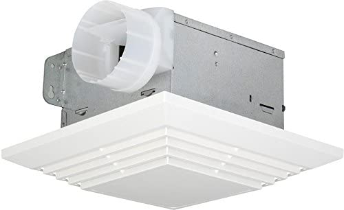 Broan 659 Heater and Fan with Light, 50 CFM 2.5 Sones, White Grille Renewed