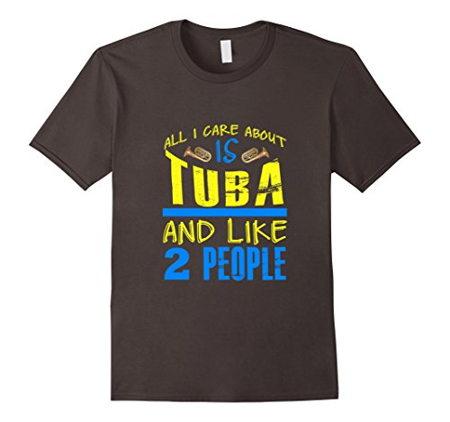 [Men's FUNNY CARE ABOUT TUBA AND LIKE 2 PEOPLE T-SHIRT Band Gift 3XL Asphalt] (Funny 2 People Costume)