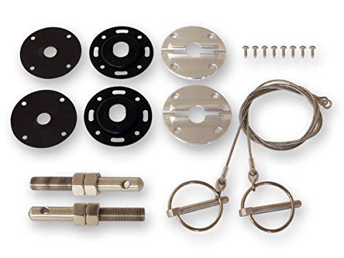 Mustang Hood Pin Kit Billet / Stainless Steel 1964 - 1973