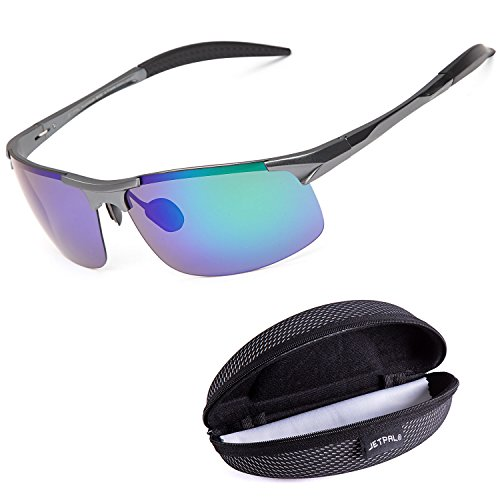 JETPAL Sports Style Men's Polarized Sunglasses Driver - Construction Sunglasses