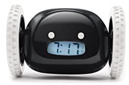 Clocky Alarm Clock on Wheels, Black