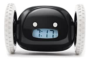 Clocky Alarm Clock on Wheels, Black