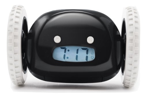 Clocky Alarm Clock Wheels Black product image