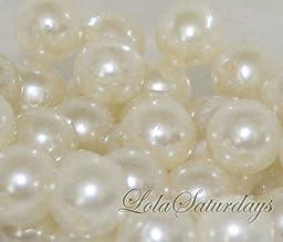 LolaSaturdays 14mm Pearls 1-Lbs loose beads vase filler Ivory