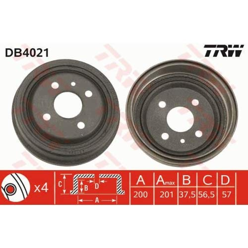 TRW DB4021 Brake Drums: