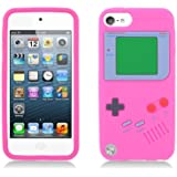 p2s88 Hot Pink Soft Silicone Skin Nintendo Game Boy Design Cover Case for Apple iPod Touch 5th Gen