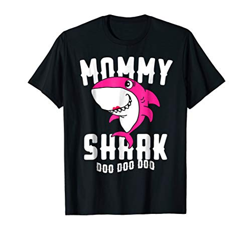 Mommy Shark T Shirt Mother Grandma Halloween Christmas