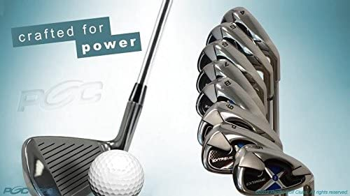 Extreme X2 Iron Set 1 inch Over Big Tall Senior Men s Complete 8-Piece Set 4-SW Right Handed Senior Flex A Flex Club Tall 6 0 1 Over with Premium Men s Arthritic Golf Grip