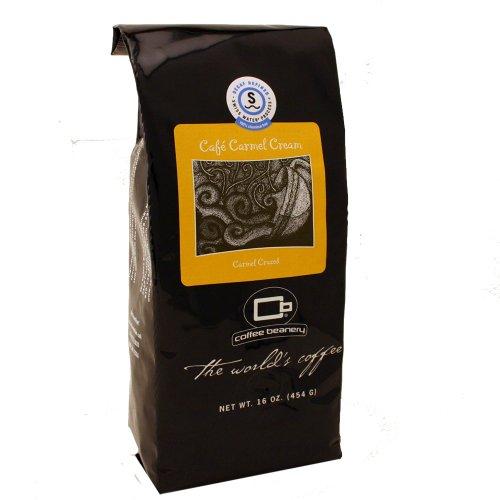 Coffee Beanery Café Carmel Flavored Coffee SWP Decaf 16 oz. (Automatic Drip)