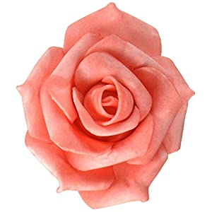 Homeford FNS000008111CRAL Foam Roses Flower Head Embellishment, 2-Inch, Coral 62