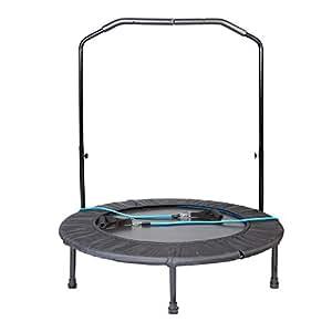 "Lifespan Fitness Lifespan 40"" Mini Trampoline Height Adjustable Handrail Rebounder Cardio Fitness"