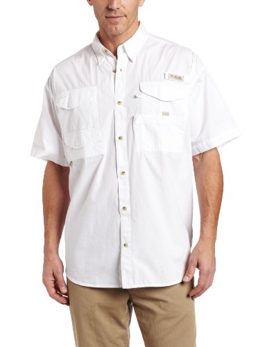 Columbia Men's Bonehead Short Sleeve Fishing Shirt (White, Medium)