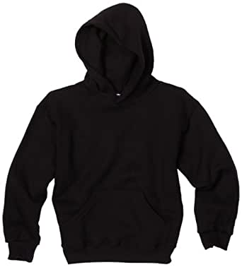 MJ Soffe Big Boys' Basic Hooded Sweatshirt, Black, Large