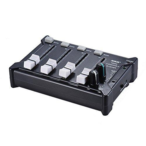[해외]Rakuby 4 채널 플라스틱 4 색 선택 믹서 모노 스테레오 오디오 DJ 믹서 프로 미니 포켓 BT 모바일 / Rakuby 4 Channel Plastic 4 Color Selection Mixer Mono Stereo Audio DJ Sound Mixer Professional Mini Pocket Mobile Phone with BT