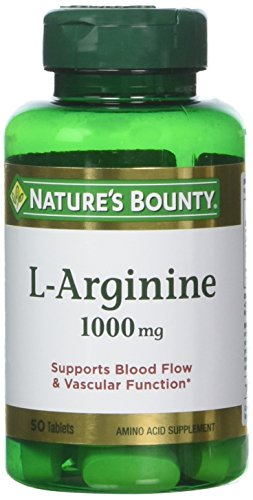 Nature's Bounty L-Arginine 1000 mg, 50 Tablets (Pack of 3) Review