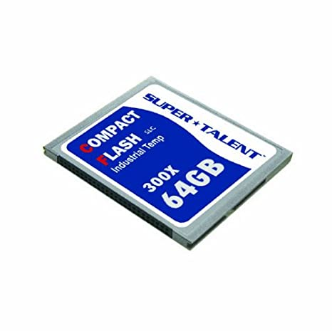 Super Talent 300 x 64 GB i-Temp CF tarjeta de memoria (SLC ...