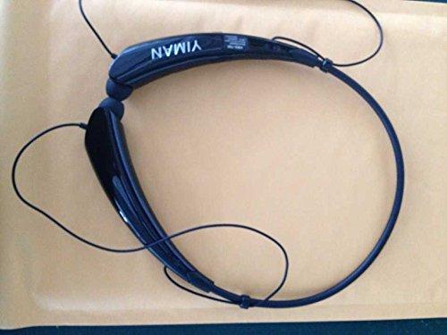 YIMAN YM0002 Wireless Bluetooth 4.0 Music Stereo Universal Headset Headphone Vibration Neckband Style for iPhone iPad Samsung LG (Black)