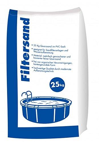 Filtersand 25 kg Sack 0,71 - 1,25 mm für Sandfilteranlagen und Poolfilter
