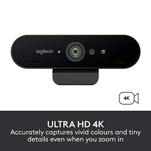 Webcam UltraHD 4K BRIO, Logitech, Webcams e Equipamentos de VOIP