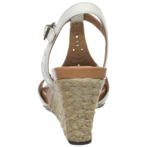 Clarks Womens Cow Cove Sandalo Con Cinturino Bianco