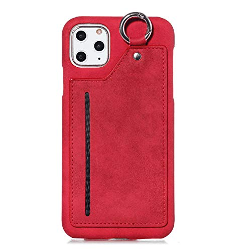 Leather Flip Case Fit for iPhone XR red Wallet Cover for iPhone XR