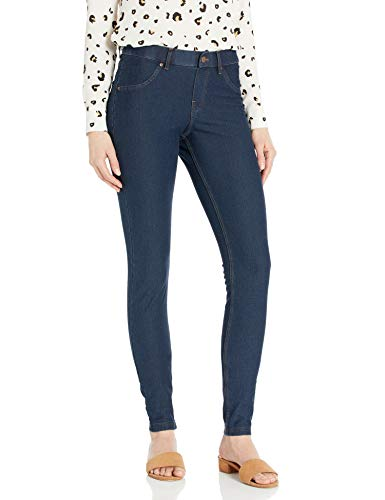 HUE Women's Essential Denim Leggings, Deep Indigo Wash, Medium