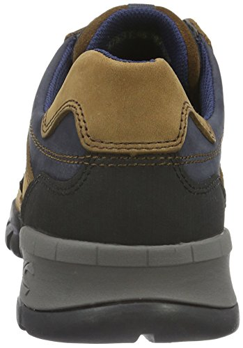 camel active Journey GTX 11, Scarpe Stringate Basse Oxford Uomo Marrone (Tobacco/Midnight/Black 05)