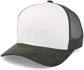 b4833ec3387e0 Upfront Truth Canvas Trucker Off White Army Adjustable