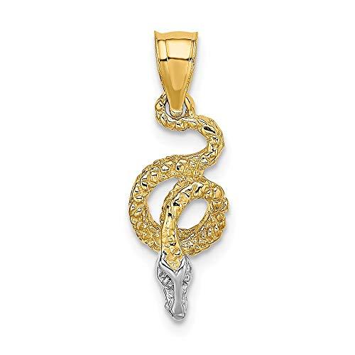Coiled Snake Pendant - 14k Gold Rhodium COILED SNAKE Charm