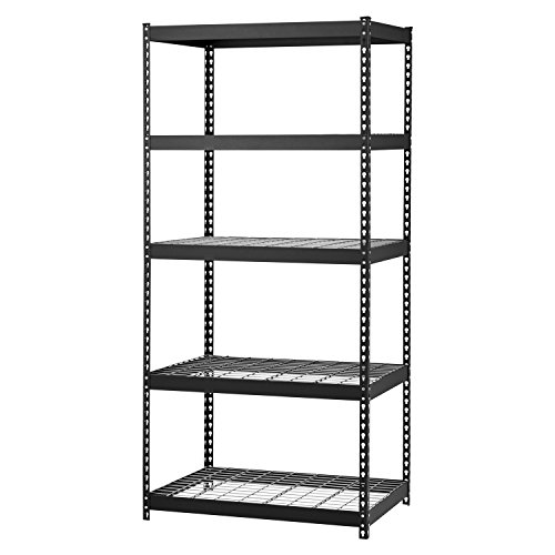 Edsal MROP3618W5B Steel Storage Rack, 5 Adjustable Shelves, 5000 lb. Capacity, 72