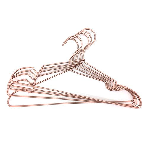 30Pack Koobay 16.5 Metal Laundry Wire Clothes Top Shirt Garment Coat Suit Hangers in Copper Gold Finish