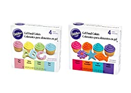 Gel Food Color Set, Primary Colors and/or Neon Colors, 3-Pack