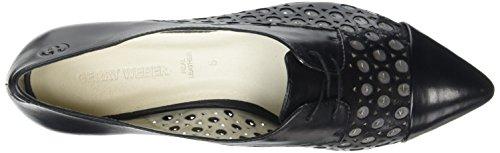 De Derby 109 Mujer schwarz Schwarz 05 kombi Gerry Cordones Weber Zapatos Negro Ebru Y017I