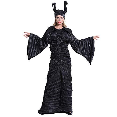 Halloween Costume, Sleeping Curse Devil Horn Witch Costume, Role Playing Witch Costume,L]()