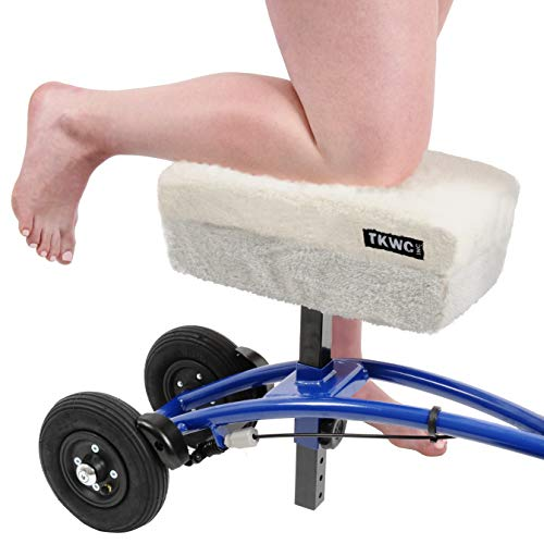 Knee Scooter Comfy Cushion - Two Inch Thick Foam Knee Pad and Cover - Fits Most Knee Walker Models