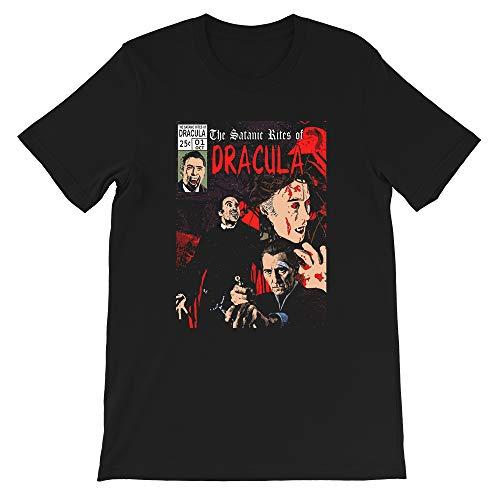 The Satanic Rites of Dracula Hammer Christopher Lee Peter Cushing Horror Funny Gift for Men Women Girls Unisex T-Shirt (Black-2XL) (Hammer House Of Horror The Carpathian Eagle)