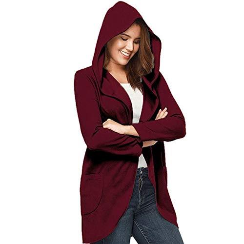 con XL Rebeca de Red Invierno mujeres mangas capa lana color de tamaño sombrero de caramelo ZFFde Color largas Z0Td5zqwq