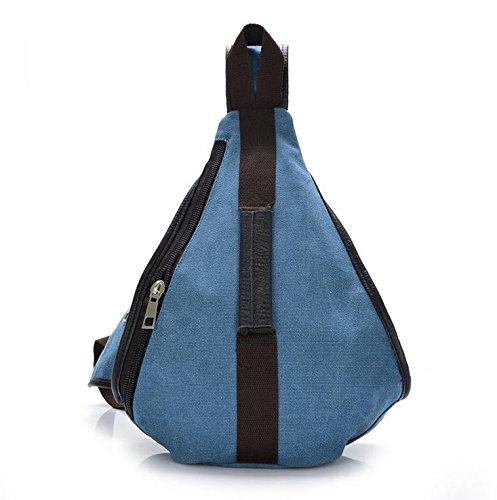 Chang Spent Pecho Mochila viaje al aire libre bolsa hombres de , coffee denim blue