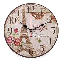 Electronic Accessories & Gadgets Alarm Clocks - Wooden Vintage Digital Wall Clock Rustic Shabby Chic Retro Decor - 1 x Clock