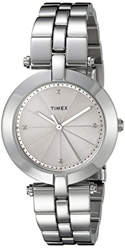 (Timex Women's TW2P79100AB City Collection Analog Display Quartz Silver Watch)