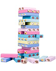 Coxeer 51PCS Wood Building Block Set Wooden Creative Early Development Educational Toy Block Accessory for Children