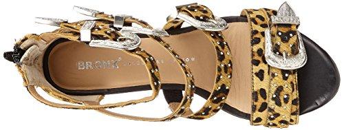 Para Zapatos Multicolor Mujer Bronx 149 De Bx leopard 1467 Abierta Con Punta Bscorpiox Tacón wxzqZxt6