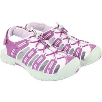 Khombu Kids Girls Sport Sandal (12, Purple/Pastel Pink)