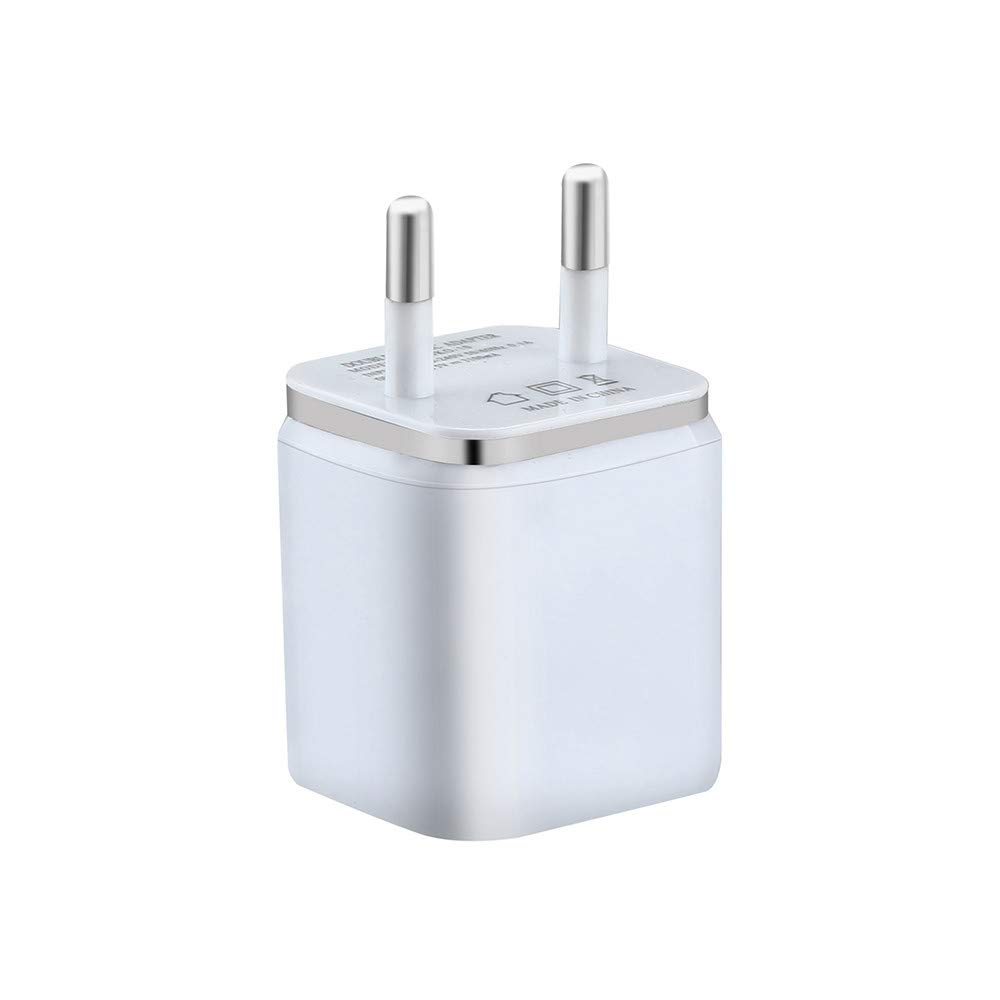 SUKEQ Europe Wall Charger, 2.1A 5V Universal Dual USB European Travel Charger Power Adapter Charging Plug for iPhone Xs Max/XS/X/8/7/6 Plus, iPad, Samsung Galaxy S9/S8/S7 Plus, HTC, LG, Moto (Gray) by SUKEQ (Image #2)