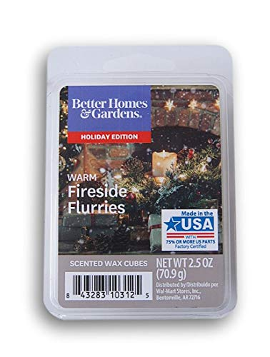 Better Homes & Gardens Warm Fireside Flurries 2018 Limited Edition Wax Cubes