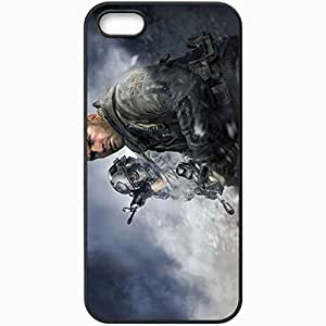 Personalized iPhone 5 5S Cell phone Case/Cover Skin Call Of Duty 4 Modern Warfare Black