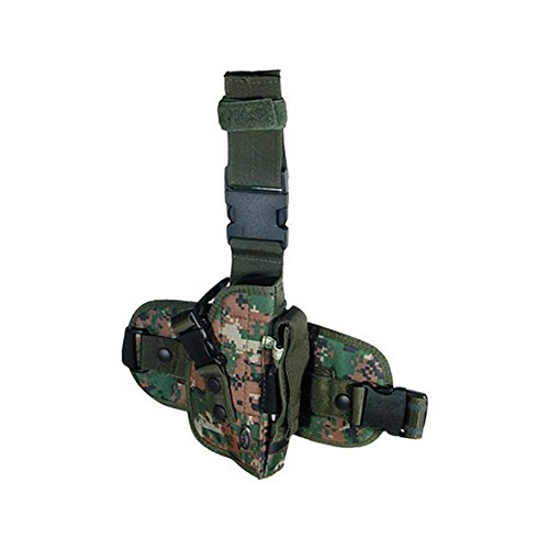 UTG Special Ops Universal Tactical Leg Holster, Woodland Digital Camo