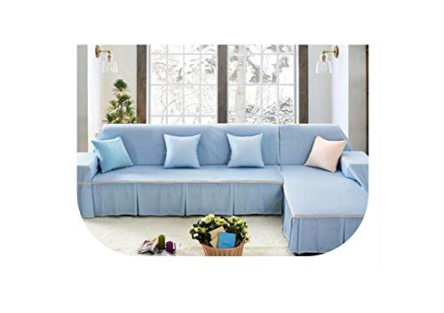 Thicker Cover Sofa Towels for Couch Sofa Pastoral Slipcover capa de Sofa Covers Polyester Use,Sofa Cover 13,Right Chaise 170x260